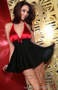 DRESS - BLACK/RED - BEAUTY NIGHT AURORA