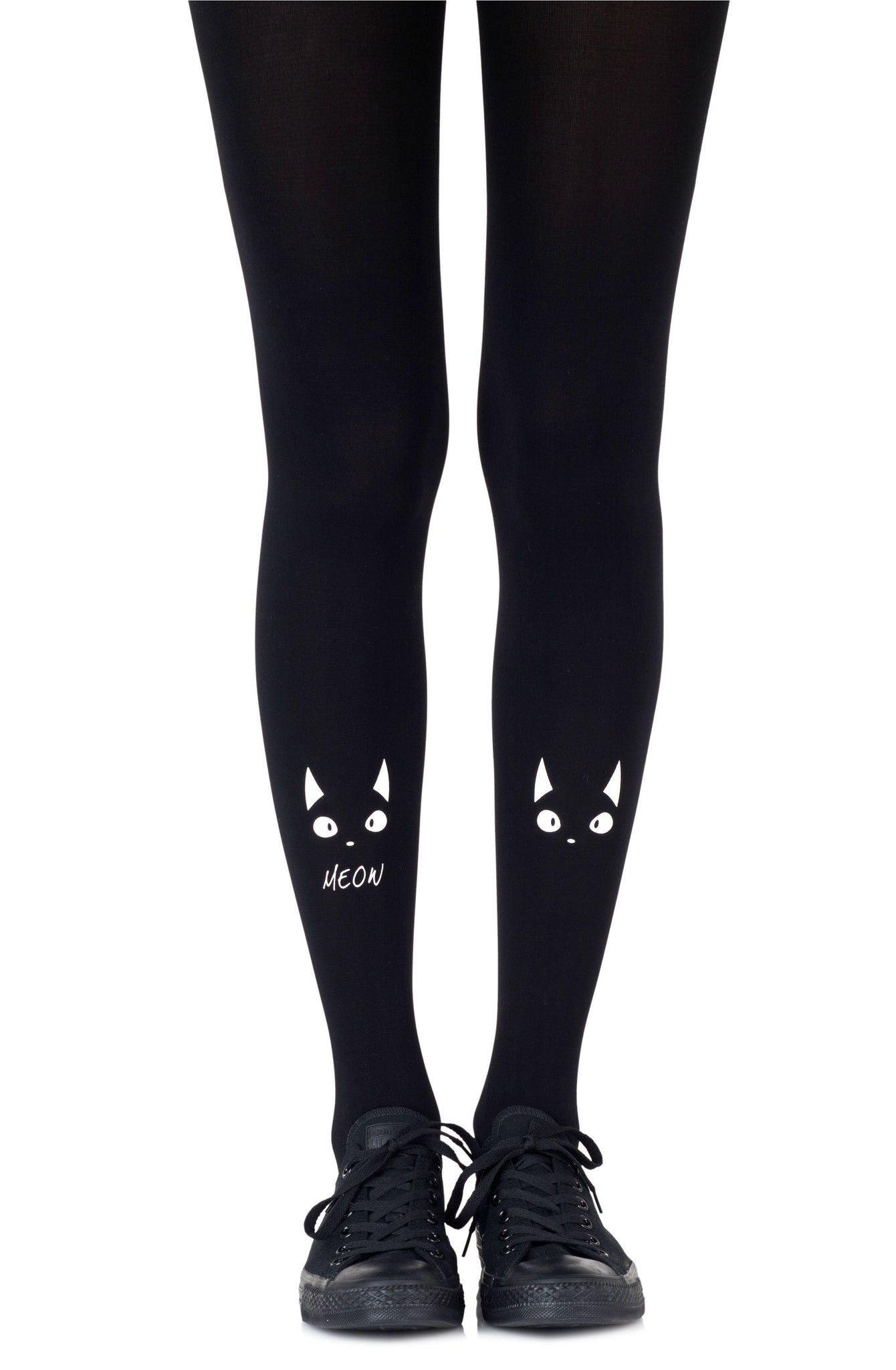 TIGHTS - BLACK/WHITE - ZOHARA NICE KITTY - AvecEnvie
