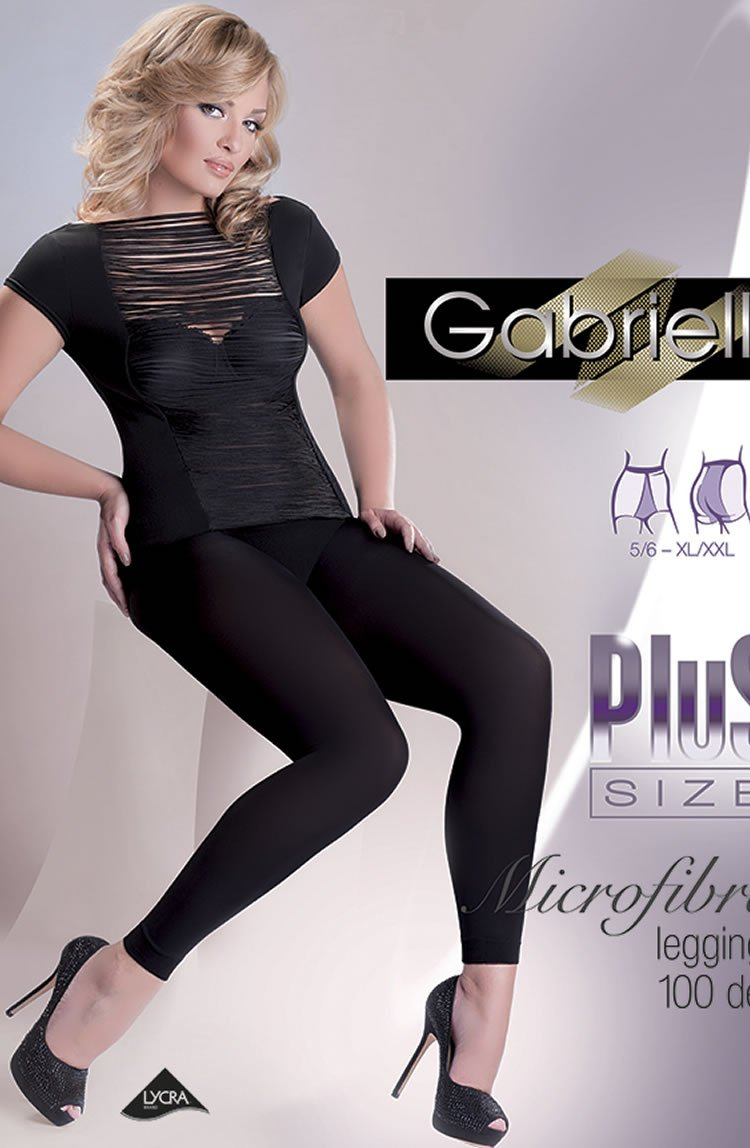 LEGGINGS - NERO (BLACK) - GABRIELLA PLUS NERO - AvecEnvie
