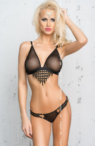 BRA SET - BLACK - ME SEDUCE TIFFANY SET - AvecEnvie