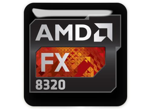 "AMD FX 8320 1""x1"" Chrome Effect Domed Case Badge / Sticker Logo"