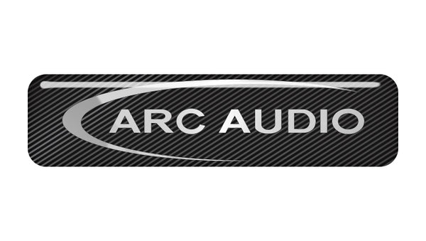 "ARC Audio 2""x0.5"" Chrome Effect Domed Case Badge / Sticker Logo"