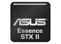 "Asus Essence STX II 1""x1"" Chrome Effect Domed Case Badge / Sticker Logo"