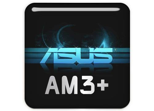 "ASUS AM3 1""x1"" Chrome Effect Domed Case Badge / Sticker Logo"