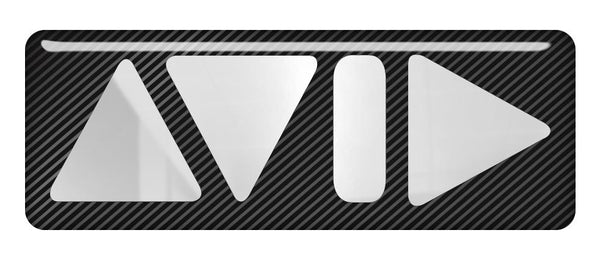 "Avid 2.75""x1"" Chrome Effect Domed Case Badge / Sticker Logo"