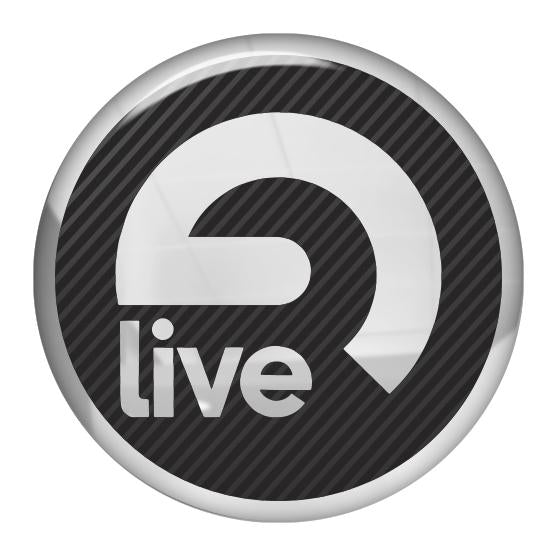 "Ableton Live 1.5"" Diameter Round Chrome Effect Domed Case Badge / Sticker Logo"