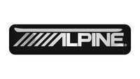 "Alpine 2""x0.5"" Chrome Effect Domed Case Badge / Sticker Logo"