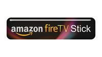 "Amazon FireTV Stick 2""x0.5"" Chrome Effect Domed Case Badge / Sticker Logo"