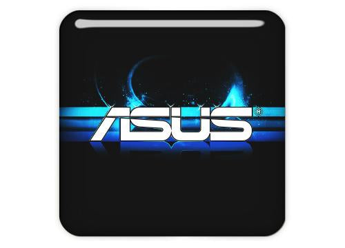 "Asus 3D Effect NEW 1""x1"" Chrome Effect Domed Case Badge / Sticker Logo"