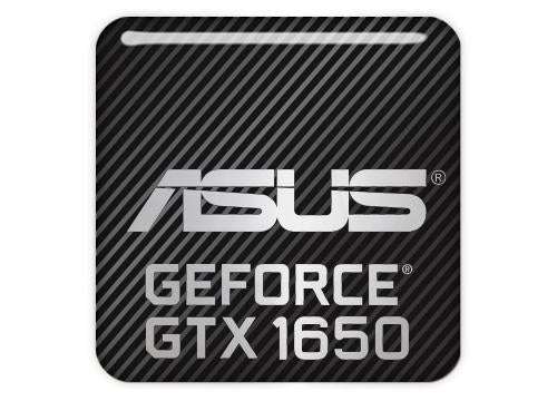 "Asus GeForce GTX 1650 1""x1"" Chrome Effect Domed Case Badge / Sticker Logo"