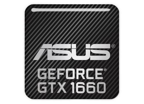 "Asus GeForce GTX 1660 1""x1"" Chrome Effect Domed Case Badge / Sticker Logo"