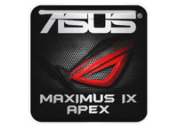 "Asus ROG MAXIMUS IX APEX 1""x1"" Chrome Effect Domed Case Badge / Sticker Logo"
