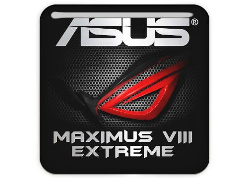 "Asus ROG MAXIMUS VIII EXTREME 1""x1"" Chrome Effect Domed Case Badge / Sticker Logo"