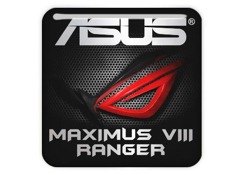 "Asus ROG MAXIMUS VIII RANGER 1""x1"" Chrome Effect Domed Case Badge / Sticker Logo"