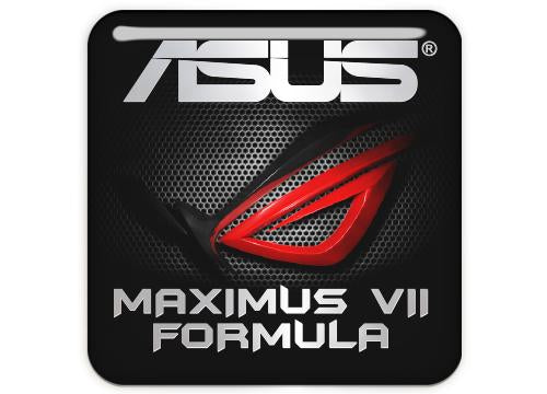 "Asus ROG MAXIMUS VII FORMULA 1""x1"" Chrome Effect Domed Case Badge / Sticker Logo"