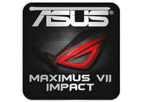 "Asus ROG MAXIMUS VII IMPACT 1""x1"" Chrome Effect Domed Case Badge / Sticker Logo"