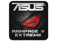 "Asus ROG RAMPAGE V EXTREME 1""x1"" Chrome Effect Domed Case Badge / Sticker Logo"