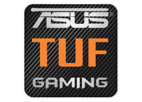 "Asus TUF Gaming 1""x1"" Chrome Effect Domed Case Badge / Sticker Logo"