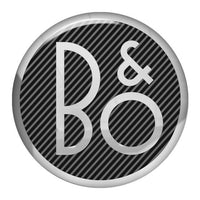 "Bang & Olufsen 1.5"" Diameter Round Chrome Effect Domed Case Badge / Sticker Logo"