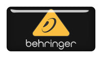 "Behringer 2""x1"" Chrome Effect Domed Case Badge / Sticker Logo"