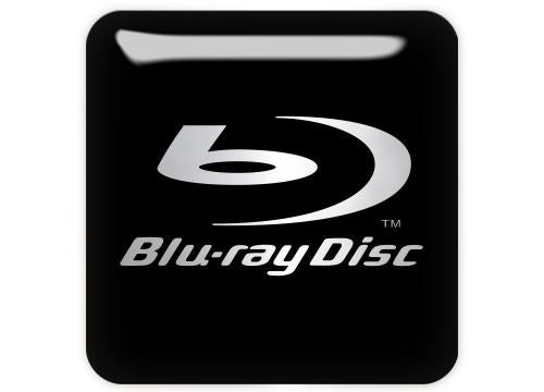 "Blu-ray Disc 1""x1"" Chrome Effect Domed Case Badge / Sticker Logo"