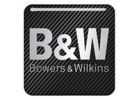 "Bowers & Wilkins 1""x1"" Chrome Effect Domed Case Badge / Sticker Logo"