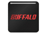 "Buffalo Red 1""x1"" Chrome Effect Domed Case Badge / Sticker Logo"