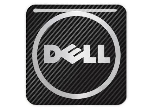 "DELL 1""x1"" Chrome Effect Domed Case Badge / Sticker Logo"