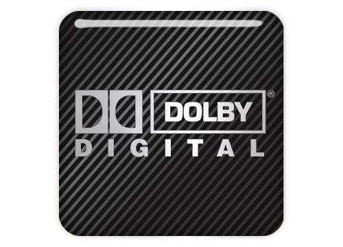 "Dolby Digital 1""x1"" Chrome Effect Domed Case Badge / Sticker Logo"