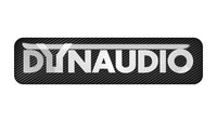 "Dynaudio 2""x0.5"" Chrome Effect Domed Case Badge / Sticker Logo"