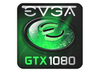 "EVGA GeForce GTX 1080 1""x1"" Chrome Effect Domed Case Badge / Sticker Logo"