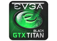 "EVGA GeForce GTX TITAN Black 1""x1"" Chrome Effect Domed Case Badge / Sticker Logo"