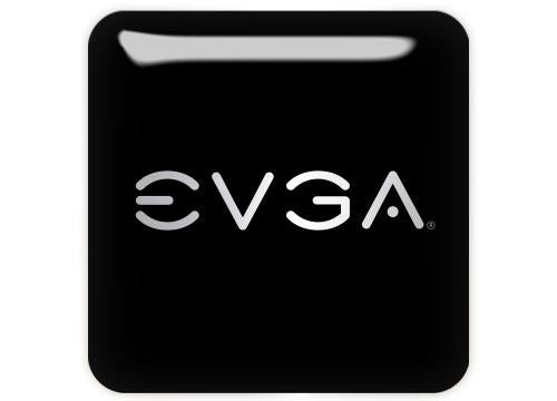 "EVGA 1""x1"" Chrome Effect Domed Case Badge / Sticker Logo"