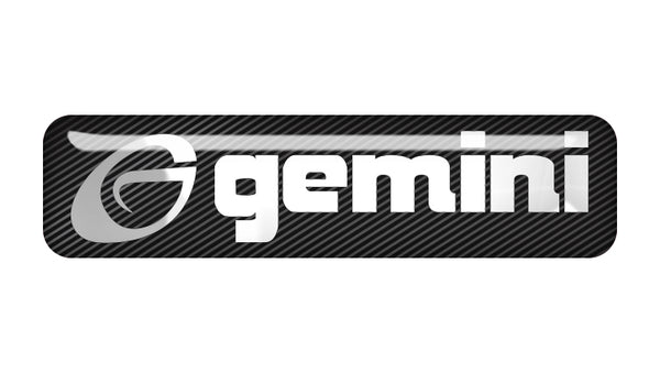"Gemini 2""x0.5"" Chrome Effect Domed Case Badge / Sticker Logo"