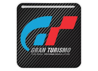 "Gran Turismo GT 1""x1"" Chrome Effect Domed Case Badge / Sticker Logo"