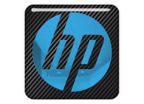 "HP Hewlett Packard 1""x1"" Chrome Effect Domed Case Badge / Sticker Logo"