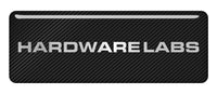 "Hardware Labs 2.75""x1"" Chrome Effect Domed Case Badge / Sticker Logo"
