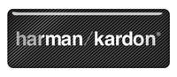 "Harman Kardon 2.75""x1"" Chrome Effect Domed Case Badge / Sticker Logo"
