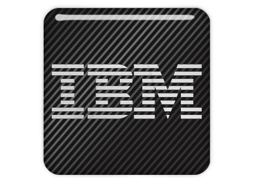 "IBM 1""x1"" Chrome Effect Domed Case Badge / Sticker Logo"