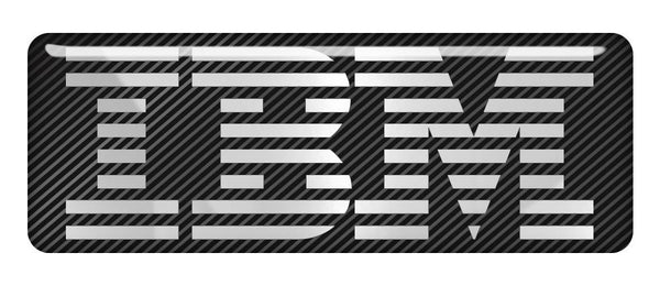 "IBM 2.75""x1"" Chrome Effect Domed Case Badge / Sticker Logo"
