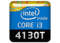 "Intel Core i3 4130T 1""x1"" Chrome Effect Domed Case Badge / Sticker Logo"