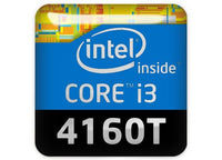 "Intel Core i3 4160T 1""x1"" Chrome Effect Domed Case Badge / Sticker Logo"