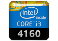 "Intel Core i3 4160 1""x1"" Chrome Effect Domed Case Badge / Sticker Logo"