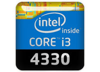 "Intel Core i3 4330 1""x1"" Chrome Effect Domed Case Badge / Sticker Logo"