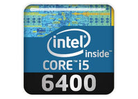 "Intel Core i5 6400 1""x1"" Chrome Effect Domed Case Badge / Sticker Logo"