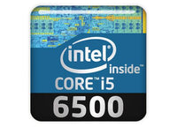 "Intel Core i5 6500 1""x1"" Chrome Effect Domed Case Badge / Sticker Logo"