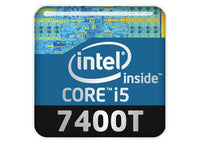 "Intel Core i5 7400T 1""x1"" Chrome Effect Domed Case Badge / Sticker Logo"