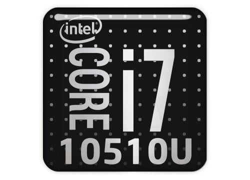 "Intel Core i7 10510U 1""x1"" Chrome Effect Domed Case Badge / Sticker Logo"