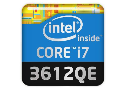 "Intel Core i7 3612QE 1""x1"" Chrome Effect Domed Case Badge / Sticker Logo"
