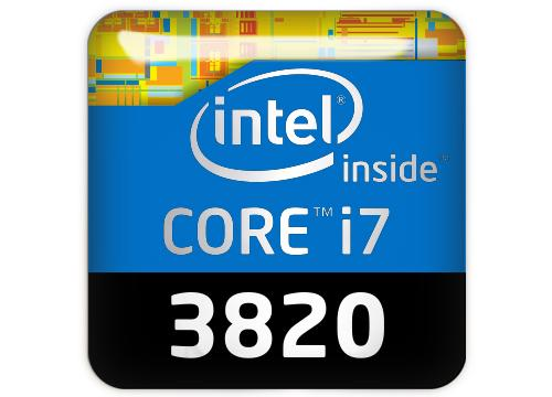 "Intel Core i7 3820 1""x1"" Chrome Effect Domed Case Badge / Sticker Logo"